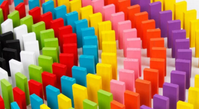 Цветное домино для детей